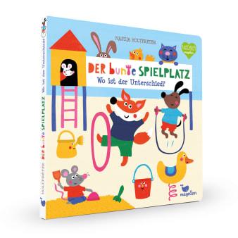 Cover Der bunte Spielplatz Wo ist der Unterschied Suchen Pappbilderbuch von Nastja Holtfreter