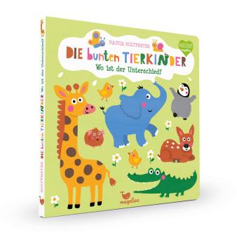 Cover Die bunten Tierkinder Wo ist der Unterschied Suchen Pappbilderbuch von Nastja Holtfreter