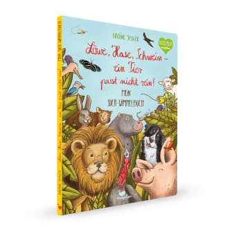 Cover Löwe, Hase, Schwein Ein Tier passt nicht rein Wimmelbuch Pappbilderbuch von Nadine Jessler