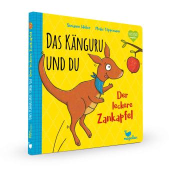 Cover Das Känguru und du Band2 Der leckere Zankapfel Pappbilderbuch von Susanne Weber und Meike Töpperwien