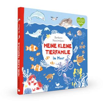 Cover Meine kleine Tierfamilie Im Meer Sachwissen Pappbilderbuch von Barbara Nascimbeni