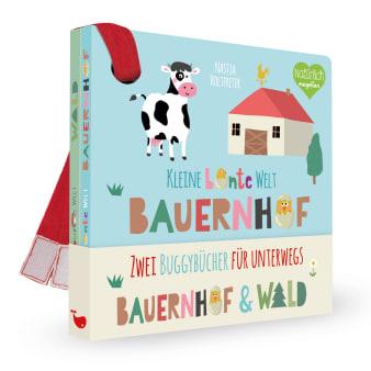 Cover Kleine bunte Welt Bauernhof und Wald Buggybuch Pappbilderbuch von Nastja Holtfreter