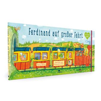 Cover Ferdinand auf großer Fahrt Wimmelbuch Bilderbuch von Anna Weber, Fabian und Christian Jeremies