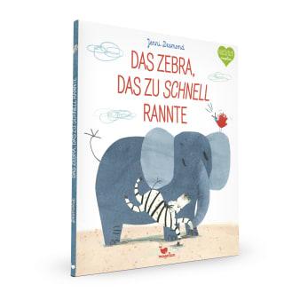 Cover Das Zebra, das zu schnell rannte Bilderbuch von Jenni Desmond