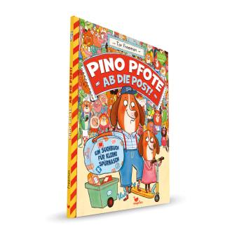 Cover Pino Pfote Band2 Ab die Post Wimmelbuch Bilderbuch von Tor Freeman