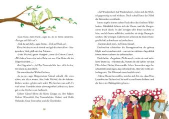 Innenansicht Doppelseite mit farbiger Illustration von Wichteln