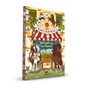 Cover Haferhorde Band12 Jetzt geht's um die Möhre Pferdebuch von Suza Kolb
