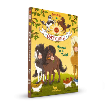 Cover Oat Crew Band1 Hooves in a twist Englisch Pferdebuch von Suza Kolb