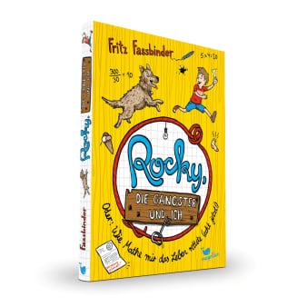 Cover Rocky, die Gangster und ich Band1 Oder wie Mathe mir das Leben rettete echt jetzt Krimi Kinderbuch von Fritz Fassbinder