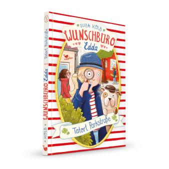Cover Wunschbüro Edda Band5 Tatort Parkstraße Kinderbuch von Suza Kolb