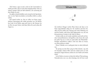 Innenansicht Doppelseite mit schwarz-weißer Illustration von Kürbiskernen