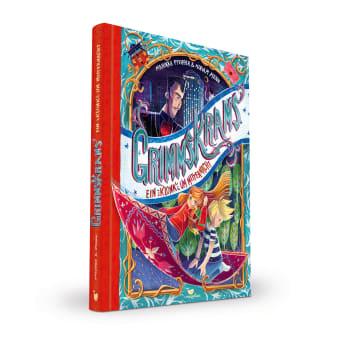 Cover Grimmskrams Band1 Ein Klonk um Mitternacht Kinderbuch von Marikka Pfeiffer und Miriam Mann