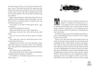 Innenansicht Doppelseite mit schwarz-weißer Illustration von Hamster