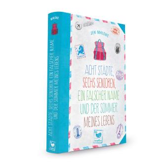 Cover Acht Städte, sechs Senioren, ein falscher Name und der Sommer meines Lebens Jugendbuch von Jen Malone