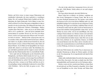 Innenansicht Doppelseite mit schwarz-weißer Illustration eines Kolibris