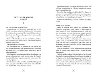 Innenansicht Doppelseite mit Text