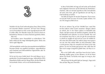 Innenansicht Doppelseite mit schwarz-weißer Illustration der Ziffer Drei