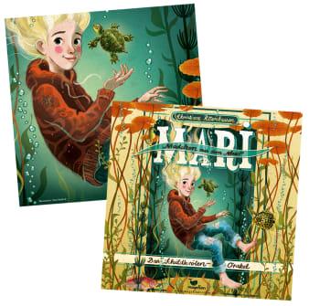 Innenansicht1 CD Hülle mit Illustration von Mädchen unter Wasser darauf