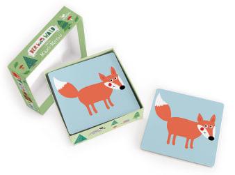 Innenansicht Karten mit farbiger Illustration eines Fuchses