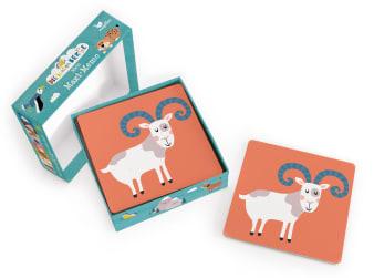 Innenansicht Karten mit farbiger Illustration eines Ziegenbocks