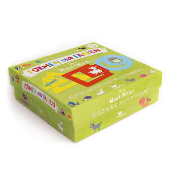 Cover Eckig, rund und kunterbunt Mein Maxi-Memo Formen und Farben Lernen Puzzle Spiel von Nastja Holtfreter