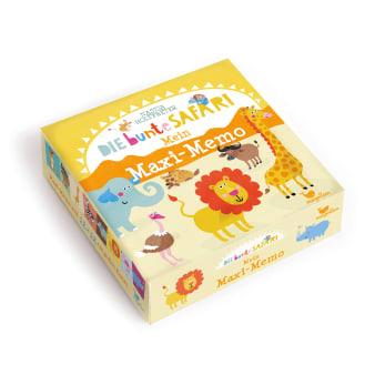 Cover Die bunte Safari Mein Maxi-Memo Memo-Spiel von Nastja Holtfreter