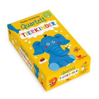Cover Quartett Tierkinder Kartenspiel von Nastja Holtfreter