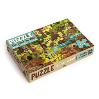Cover Ein Jahr im Wald Frühling Puzzle Spiel für Kinder von Emilia Dziubak
