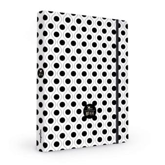 Cover Notizbuch Nummer 44 Black Dots Schönes und Kreatives zum Eintragen
