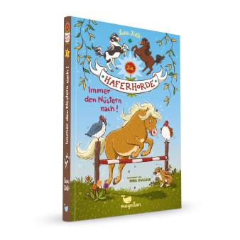 Cover Haferhorde Band3 Immer den Nüstern nach Pferdebuch von Suza Kolb