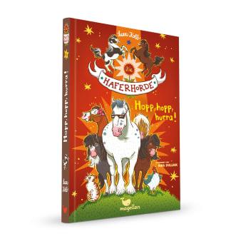 Cover Haferhorde Band6 Hopp hopp hurra Pferdebuch von Suza Kolb