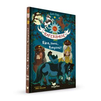 Cover Haferhorde Band11 Eins zwei Ponyzei Pferdebuch von Suza Kolb
