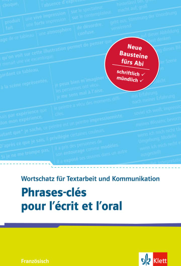 Cover Phrases-clés pour l'écrit et l'oral 978-3-12-519568-4 Französisch