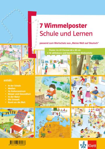 Cover Wimmelposter Schule und Lernen 978-3-12-674898-8 Deutsch als Fremdsprache (DaF),Deutsch als Zweitsprache (DaZ)