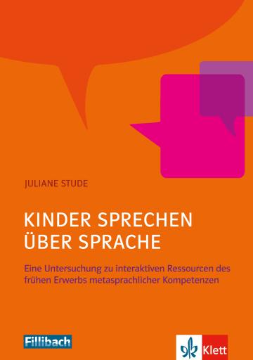 Cover Kinder sprechen über Sprache 978-3-12-688057-2 Deutsch