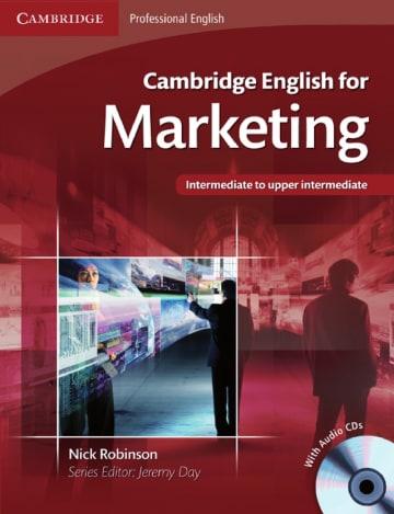 Cover Cambridge English for Marketing 978-3-12-534635-2 Englisch für den Beruf