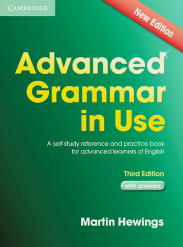 Cover Advanced Grammar in Use 978-3-12-540108-2 Englisch