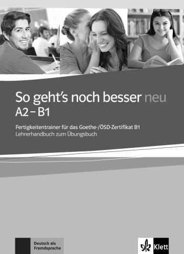 Cover So geht's noch besser neu A2 - B1 978-3-12-675857-4 Deutsch als Fremdsprache (DaF)