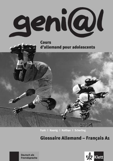 Cover geni@l A1 978-3-12-606238-1 Deutsch als Fremdsprache (DaF)
