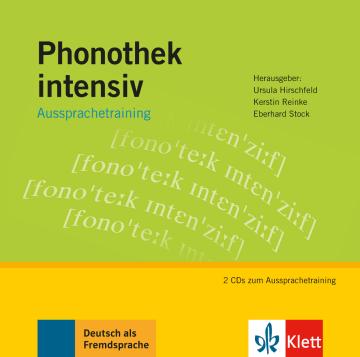 Cover Phonothek intensiv 978-3-12-606386-9 Deutsch als Fremdsprache (DaF)