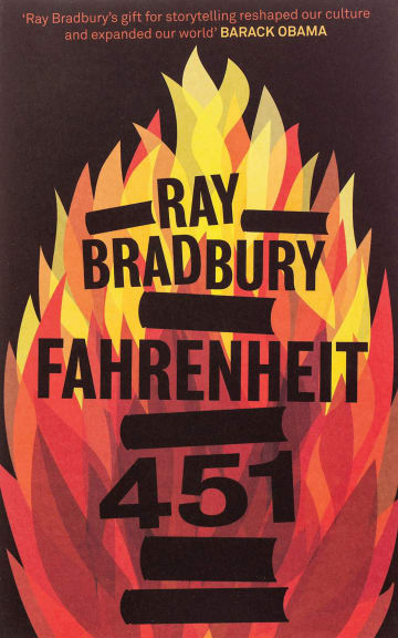 Cover Fahrenheit 451 978-3-12-577697-5 Ray Bradbury Englisch