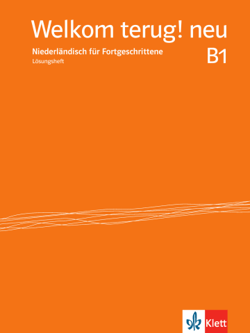 Cover Welkom terug! neu B1 978-3-12-528986-4 Niederländisch