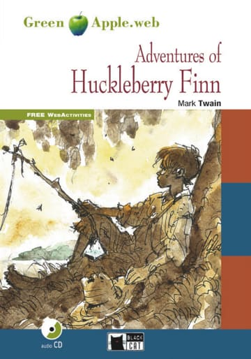 Cover The Adventures of Huckleberry Finn 978-3-12-500050-6 Mark Twain Englisch