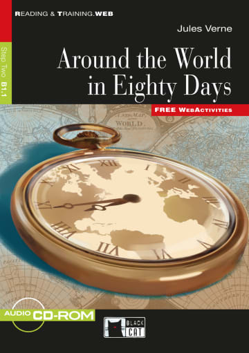 Cover Around the World in Eighty Days 978-3-12-500064-3 Jules Verne Englisch