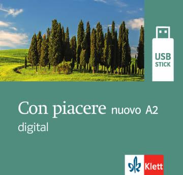 Cover Con piacere nuovo A2 digital 978-3-12-525211-0 Italienisch