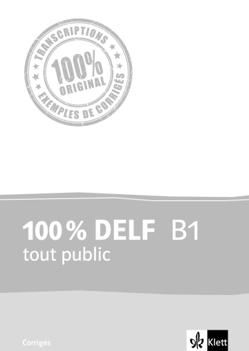 Cover 100 % DELF B1 tout public 978-3-12-529447-9 Französisch