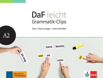 Cover DaF leicht Grammatik-Clips A2 978-3-12-676268-7 Deutsch als Fremdsprache (DaF)