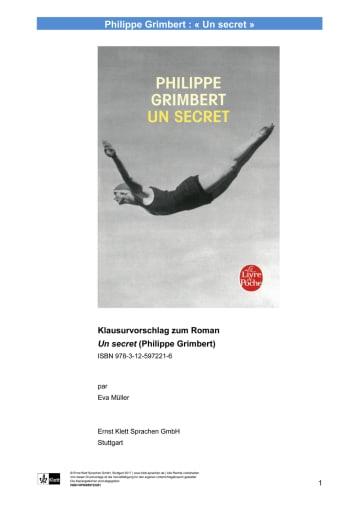 Cover Un Secret NP00859722201 Französisch