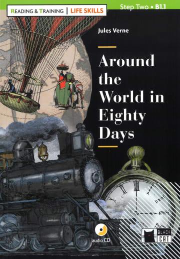Cover Around the World in Eighty Days 978-3-12-500106-0 Jules Verne Englisch