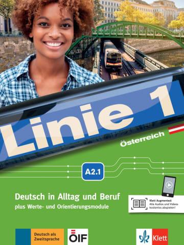 Cover Linie 1 Österreich A2.1 978-3-12-607149-9 Deutsch als Zweitsprache (DaZ)